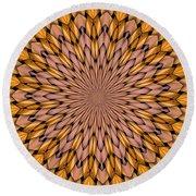 Kaleidoscope 2 Round Beach Towel