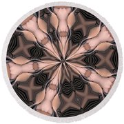 Kaleidoscope 27 Round Beach Towel