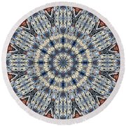 Kaleidoscope 29 Round Beach Towel