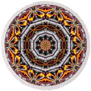 Kaleidoscope 41 Round Beach Towel