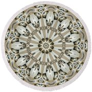 Kaleidoscope 53 Round Beach Towel