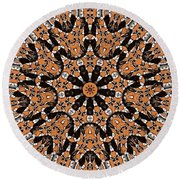Kaleidoscope 62 Round Beach Towel