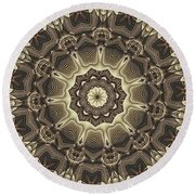 Kaleidoscope 66 Round Beach Towel