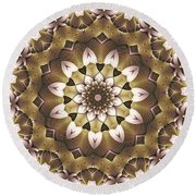 Kaleidoscope 68 Round Beach Towel