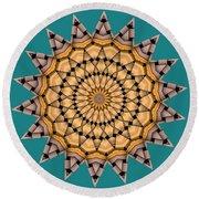 Kaleidoscope 7 Round Beach Towel