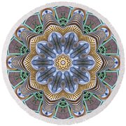 Kaleidoscope 73 Round Beach Towel