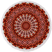 Kaleidoscope 8 Round Beach Towel