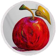 Kaleidoscope Apple -- Or -- Apple For The Teacher  Round Beach Towel by Eloise Schneider