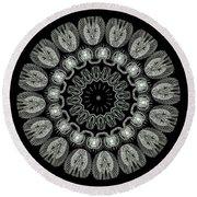 Kaleidoscope Ernst Haeckl Sea Life Series Black And White Set On Round Beach Towel