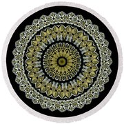 Kaleidoscope Ernst Haeckl Sea Life Series Steampunk Feel Round Beach Towel