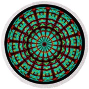 Kaleidoscope Of A Neon Sign Round Beach Towel