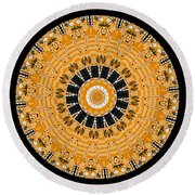 Kaleidoscope Of Computer Circuit Board Round Beach Towel
