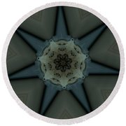 Kaleidoscope Star Round Beach Towel