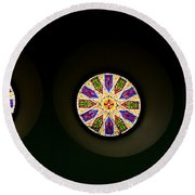 Kaleidoscope Window  Round Beach Towel