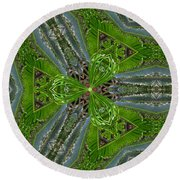 Kalido Plant Fronds Round Beach Towel