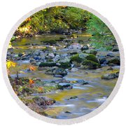 Kanaka Creek In The Fall Round Beach Towel