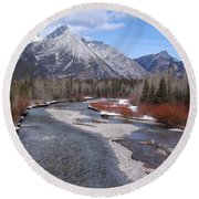 Kananaskis River Round Beach Towel