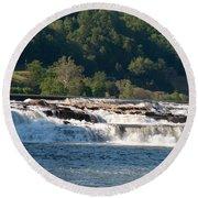 Kanawah Falls I - Spring Round Beach Towel