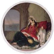 Kandahar Lady Of Rank Round Beach Towel