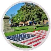 Kankakee Union Soldiers Memorial Round Beach Towel