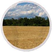 Kansas Wheat Field 5a Round Beach Towel