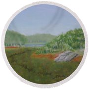 Kantola Swamp Round Beach Towel