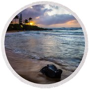Kapa'a Kauai Sunrise Round Beach Towel