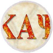 Kappa Alpha Psi - Parchment Round Beach Towel