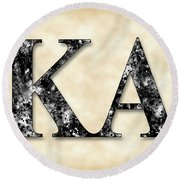 Kappa Alpha Society - Parchment Round Beach Towel