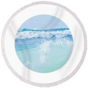 Kapuka'ulua Pure Blue Round Beach Towel