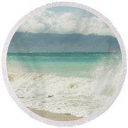 Kapukaulua - Purely Celestial Round Beach Towel