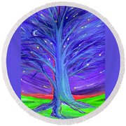 Karen's Tree 1 Round Beach Towel