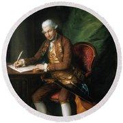 Karl Friedrich Abel (1725-1787) Round Beach Towel