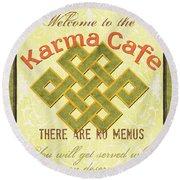 Karma Cafe Round Beach Towel