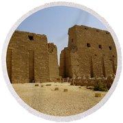 Karnak Temple 04 Round Beach Towel