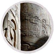 Karnak Temple 10 Round Beach Towel