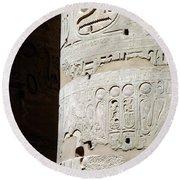 Karnak Temple 11 Round Beach Towel