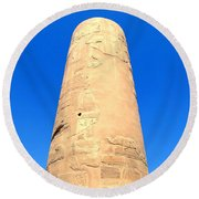 Karnak Temple 18 Round Beach Towel