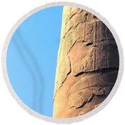 Karnak Temple 21 Round Beach Towel