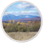 Katahdin From Staceyville 3 Round Beach Towel