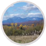 Katahdin From Staceyville 4 Round Beach Towel