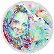 Kate Middleton Portrait.1 Round Beach Towel