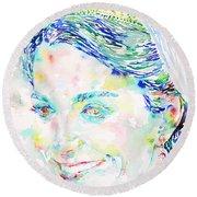 Kate Middleton Portrait.2 Round Beach Towel