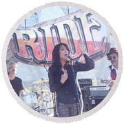 Katey Sagal Round Beach Towel