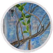Kathy's Wall And Vine Round Beach Towel