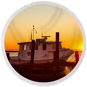 Katlyn At Sunrise Round Beach Towel