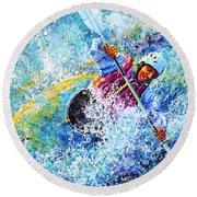 Kayak Crush Round Beach Towel by Hanne Lore Koehler