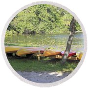 Kayak Rentals Round Beach Towel