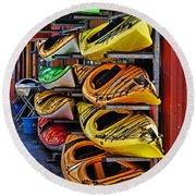 Kayaks Hdrbt3226-13 Round Beach Towel