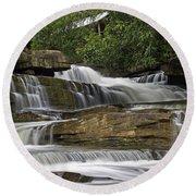 Kbal Chhay Waterfalls Round Beach Towel